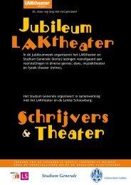 Schrijvers & Theater - Universiteit Leiden