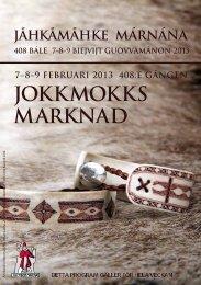 Jokkmokks marknad program (pdf) - Sveriges Radio