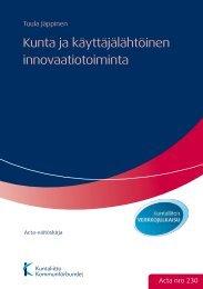 Kunta ja käyttäjälähtöinen innovaatiotoiminta - TamPub
