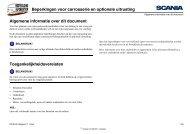 Beperkingen voor carrosserie en optionele uitrusting ... - Scania