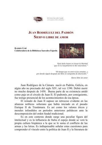 Rodríguez del Padrón, Juan. Siervo libre - Biblioteca SAAVEDRA ...