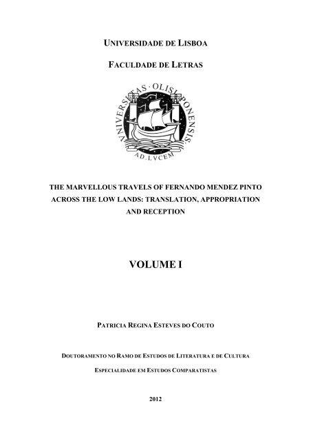 Volume I Repositório Da Universidade De Lisboa