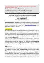 Maximale Literaturliste Klinische Psy. nach Fischer