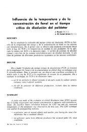 Influencia de la temperatura y de la concentración de fenol en el ...