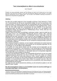 Taal, lichamelijkheid en affect in de schizofrenie (Paul Moyaert) 4