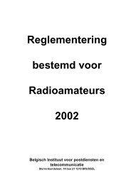 Belgische Wetgeving Privaat Radiotelefonist