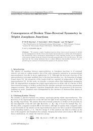 Consequences of Broken Time-Reversal Symmetry in Triplet ...