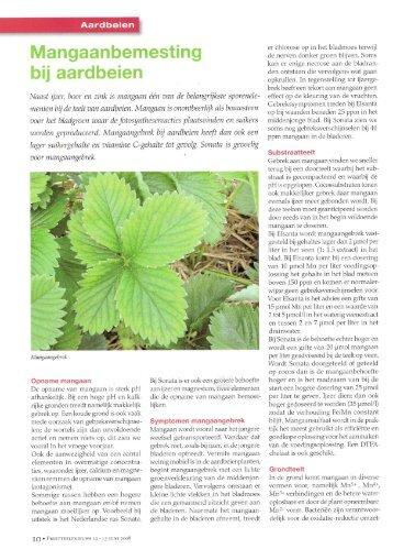 Mangaanbemesting bij aardbeien - Fragaria Holland