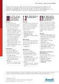 Fare clic qui per scaricare le raccomandazioni Ansell - Page 2