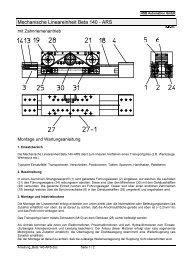 Beta 140-ARS Montage und Wartung - Ant Antriebstechnik