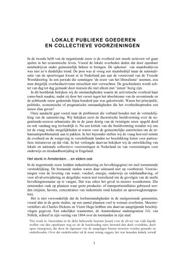 LOKALE PUBLIEKE GOEDEREN EN ... - Universiteit Gent