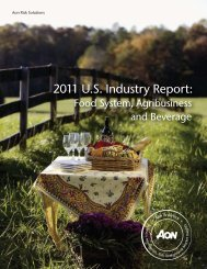 2011 U.S. Industry Report: - Aon