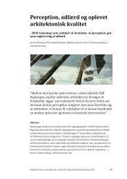 Perception, adfærd og oplevet arkitektonisk kvalitet - VBN