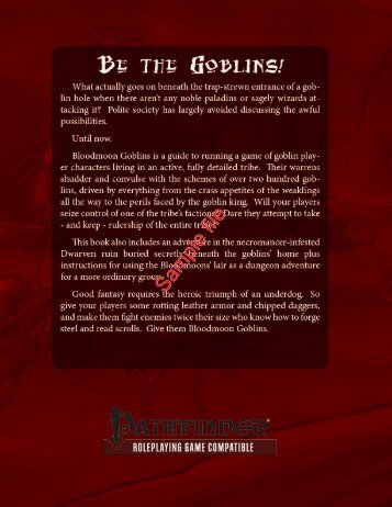 Bloodmoon Goblins - RPGNow