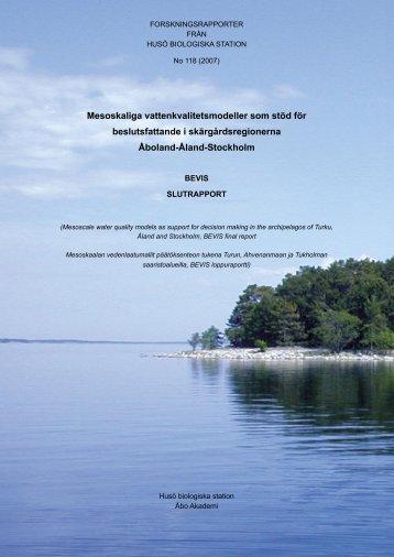 Mesoskaliga vattenkvalitetsmodeller som stöd för ... - Åbo Akademi