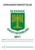 Blekinge Idrottsförbunds verksamhetsberättelse 2011 - IdrottOnline ... - Page 3