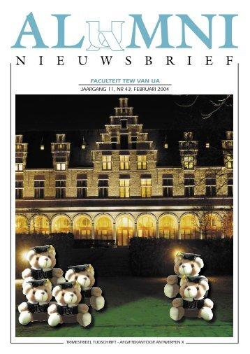 Alumni Nieuwsbrief nr 43 - Universiteit Antwerpen