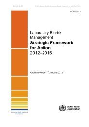 Laboratory Biorisk Management Strategic Framework for Action ...