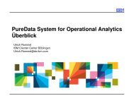 PureData System for Operational Analytics Überblick - IBM