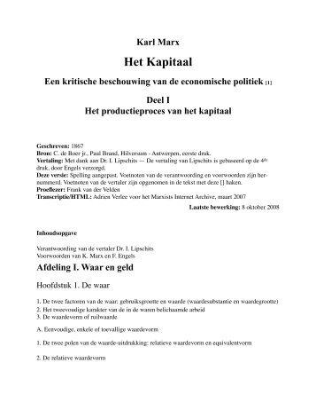 Het Kapitaal - Marxists Internet Archive