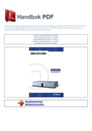 Bruker manual HUMAX CX-1201C - HANDBOK PDF