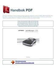 Bruker manual DYMO LABELMANAGER 210D - HANDBOK PDF