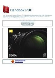 Bruker manual NIKON D300S - HANDBOK PDF