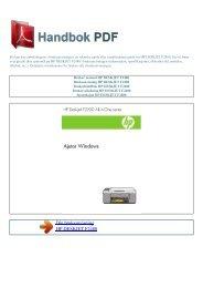 Bruker manual HP DESKJET F2480 - HANDBOK PDF