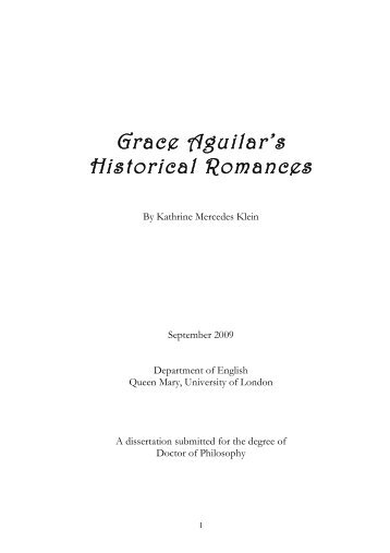 Grace Aguilar's Historical Romances - Queen Mary Research Online ...