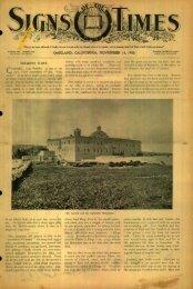 oakland, california, november 14, 1900. - Adventistarchives.org