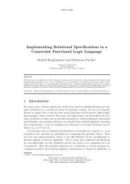 Implementing Relational Specifications in a Constraint Functional ...