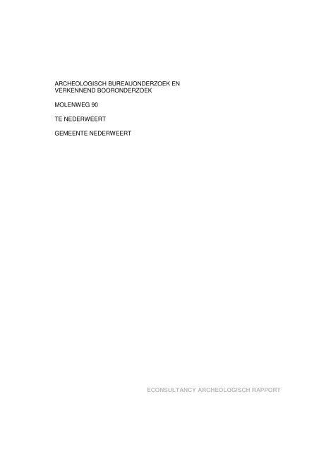 Bijlage 6 Archeologisch onderzoek