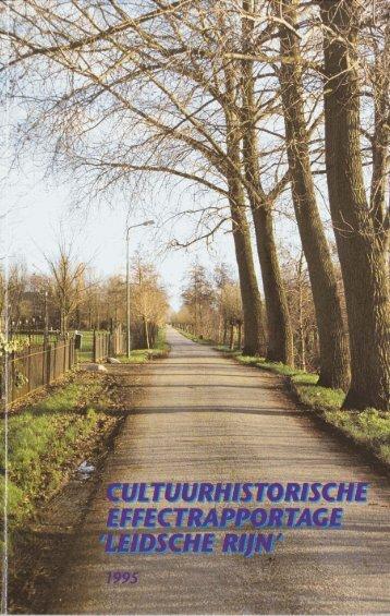 Bijlage 5 Cultuurhistorische effectrapportage