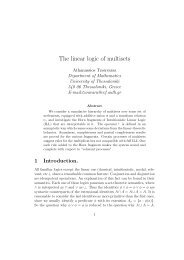 The linear logic of multisets