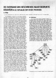 De overgang van geschreven naar gedrukte kranten - Groniek