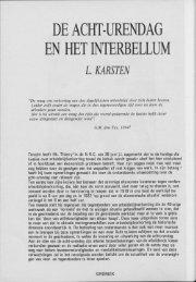 DE ACHT-URENDAG EN HET INTERBELLUM - Groniek