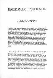 LEKKER ANDERS ... PUUR OOSTERS - Groniek