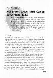 Het proces tegen Jacob Campo Weyerman - Groniek