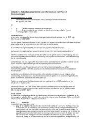 Collectieve Arbeidsovereenkomst voor Werknemers van ... - CAOweb