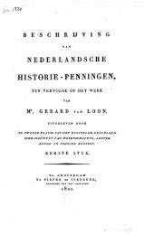 Beschrijving van Nederlandsche historie-penningen. I