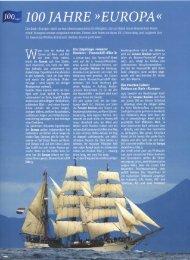 Die Bark iiEuropaft zählt zu den überzeugendsten Großseglem. die ...