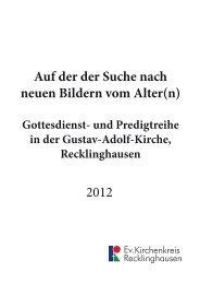 Auf der der Suche nach neuen Bildern vom Alter(n) 2012 - Ev ...