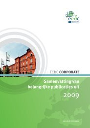 Exec Summ 2009_cover.indd - European Centre for Disease ...