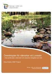 Översiktsplan för våtmarker vid Lovisaån - WWF