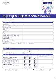 Kijkwijzer digiborden - Kennisnet