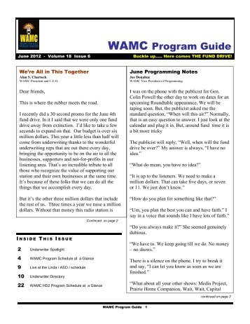 WAMC Program Guide - NPR Digital Services