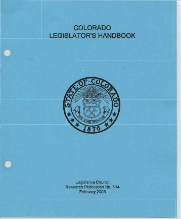 Legislative Rule Book - Colorado State Publications Library Digital ...