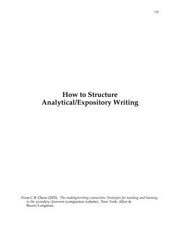 what is analytical expository writing