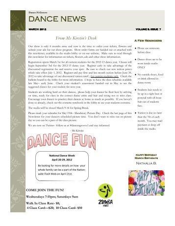 DANCE NEWS DANCE NEWS