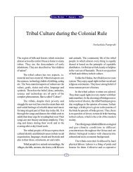Tribal Culture during the Colonial Rule